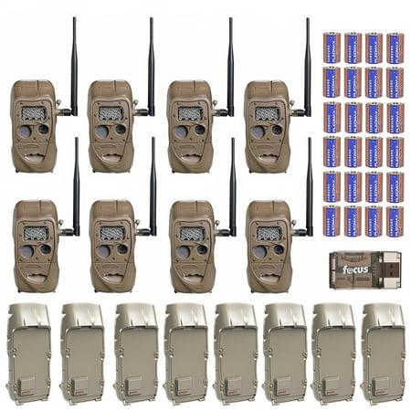 Cuddeback CuddeLink Trail Camera with Adapter (8-Pack) and Batteries (24) Cuddeback Digital Scouting Camera