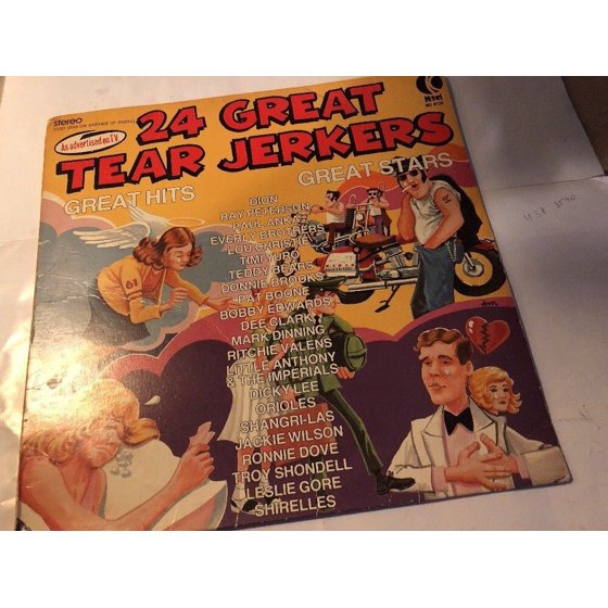 Various - 24 Great Tear Jerkers LP VG+ NU 9130 K-Tel Stereo 1976 Vinyl USA