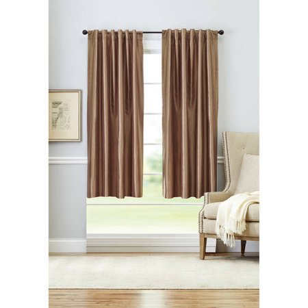 Discontinued Better Homes And Gardens Blackout Thermal Faux Silk Back Tab Window Curtains