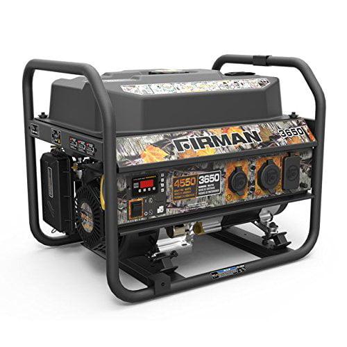 Firman P03601 4550//3650 Watt Recoil Start Gas Portable Generator cETL Certified Black