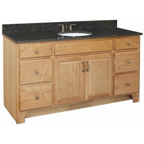 Design House Richland 60'' Double Door 4 Drawers Cabinet Vanity Base