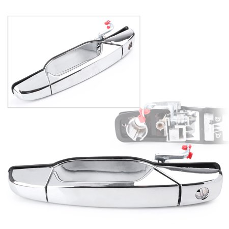 GZYF Front Outer Door Handle, Chrome Exterior Door Handle for 2007-2013 Chevrolet Chevy Suburban / Tahoe & 2007-2013 Chevrolet Avalanche / Silverado 1500 2500 3500 4 Door US
