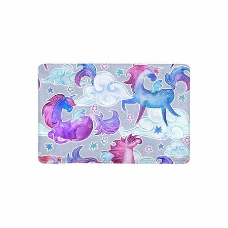 Mkhert Unicorn Doormat Rug Home Decor Floor Mat Bath Mat