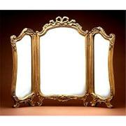 Tri Fold Vanity Gold Leaf Decorative Mirror