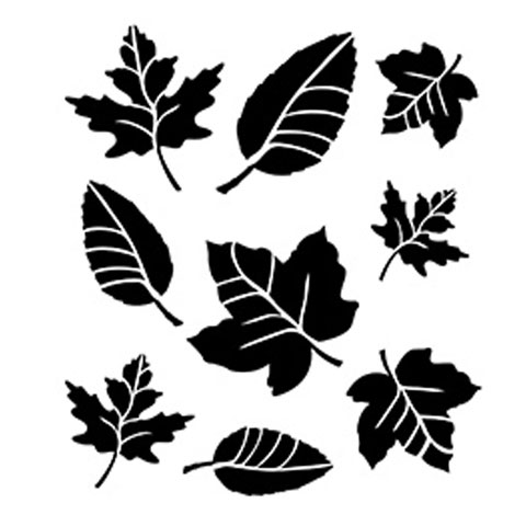 FolkArt Painting Stencils. Large, Leaf Variety