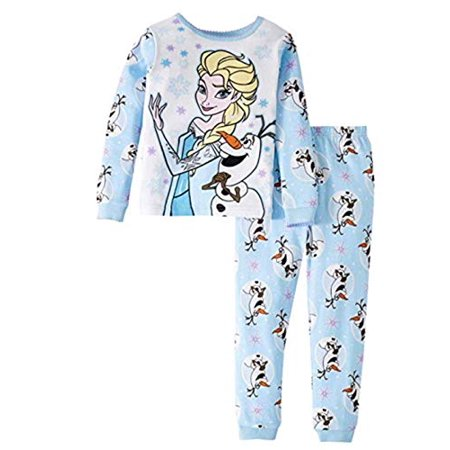 Frozen - Toddler Girls Elsa Olaf Anna Holiday Christmas 2pc Pajamas (4t) - Frozen For Girls
