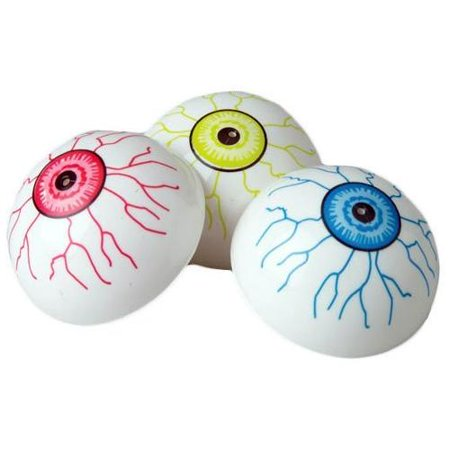Lot of 12 Assorted Color Eyeball Theme Jump Poppers - Birthday Poppers