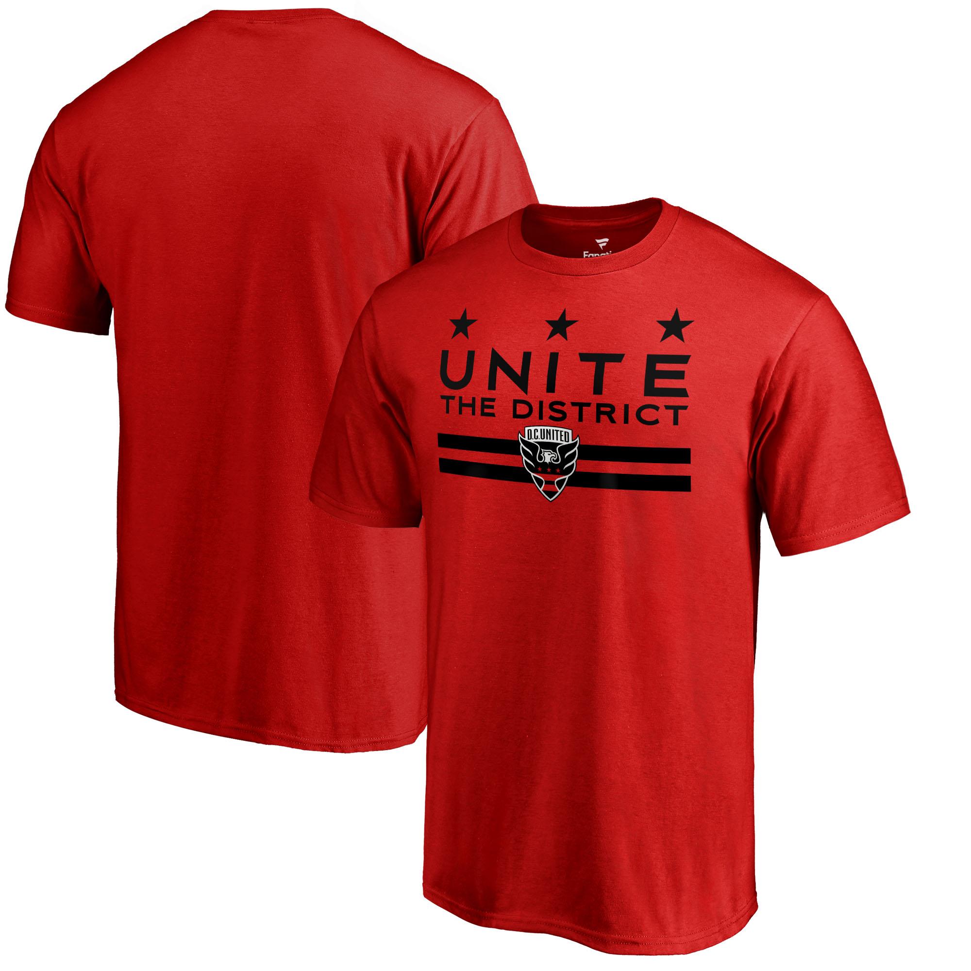 D.C. United Fanatics Branded 2018 Inaugural Season Audi Field Unite the District T-Shirt - Red