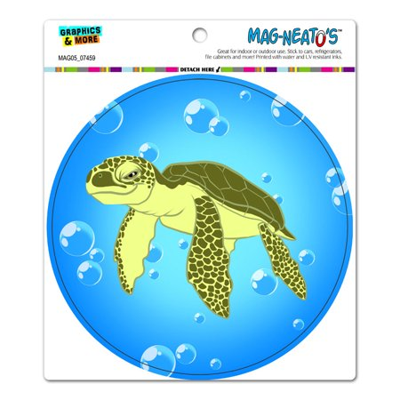 Sea Turtle - Ocean Cute Circle MAG-NEATO'S(TM) Car/Refrigerator - Cute Magnets