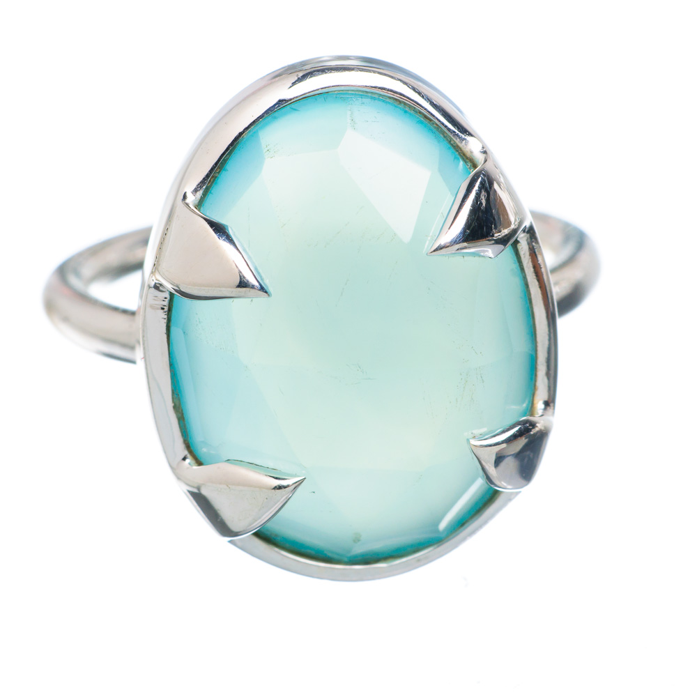 Ana Silver Co Aqua Chalcedony 925 Sterling Silver Ring Size 5.25 Handmade Jewelry RING882695 by Ana Silver Co.