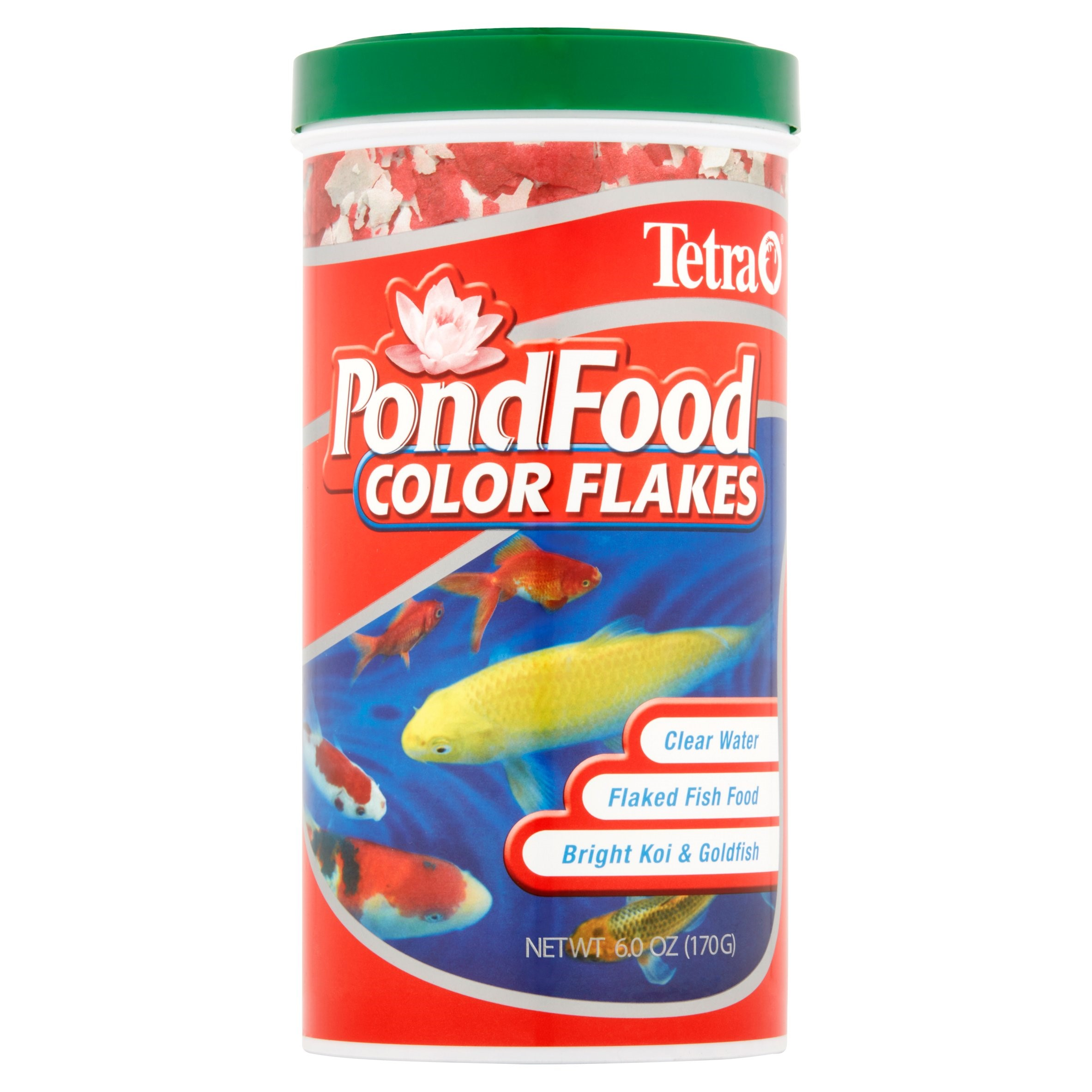(2 Pack) Tetra PondFood Color Enhancing Flakes, Pond Fish Food, 6-oz.