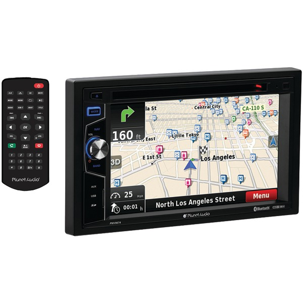 "PLANET AUDIO PNV9674 6.2"" Double-DIN In-Dash Navigation Touchscreen DVD Receiver with Bluetooth(R)"
