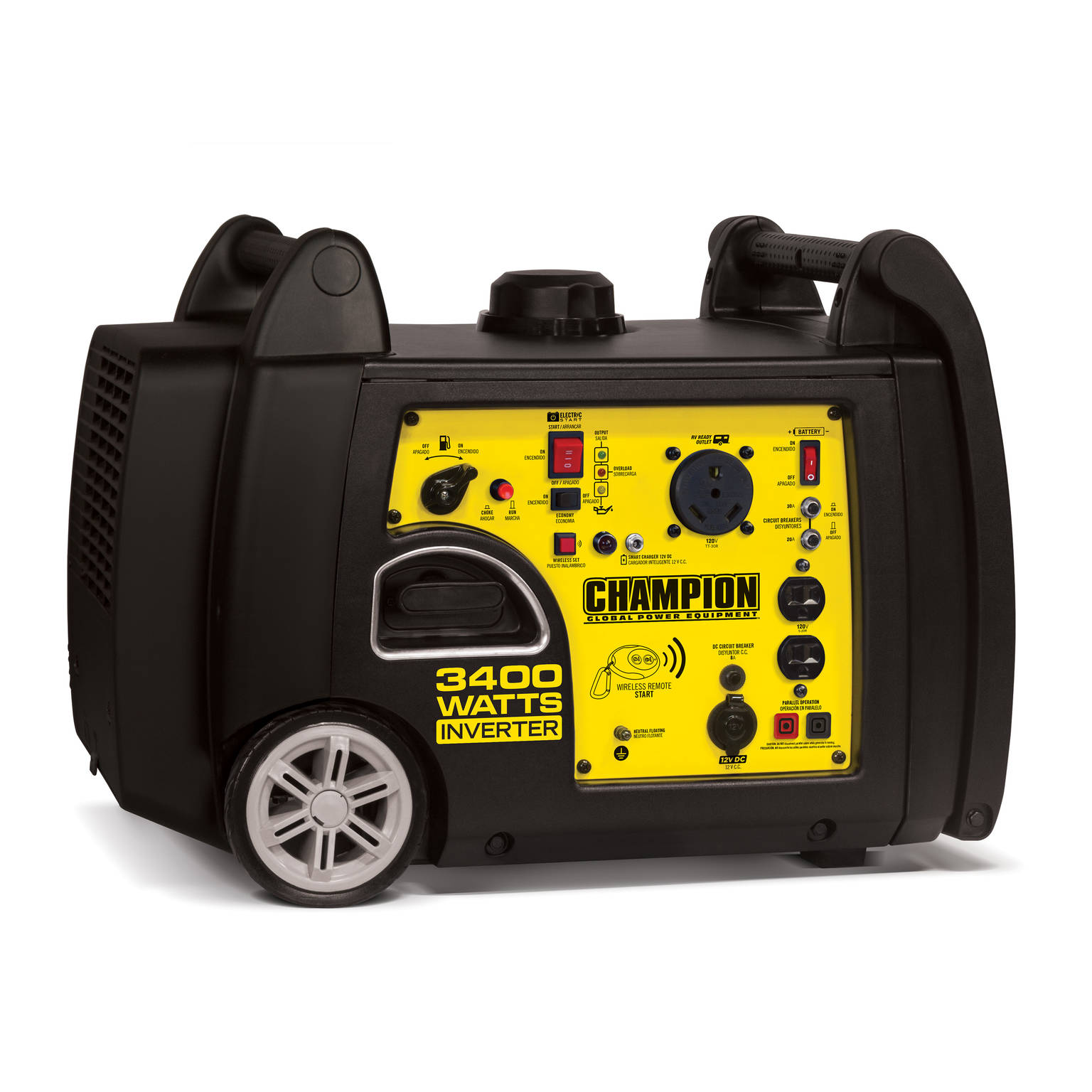 Champion 3400-Watt RV Ready Portable Inverter Generator with Wireless Remote Start