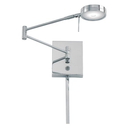 George Kovacs 1-Light LED Swing Arm Wall Lamp - Chrome