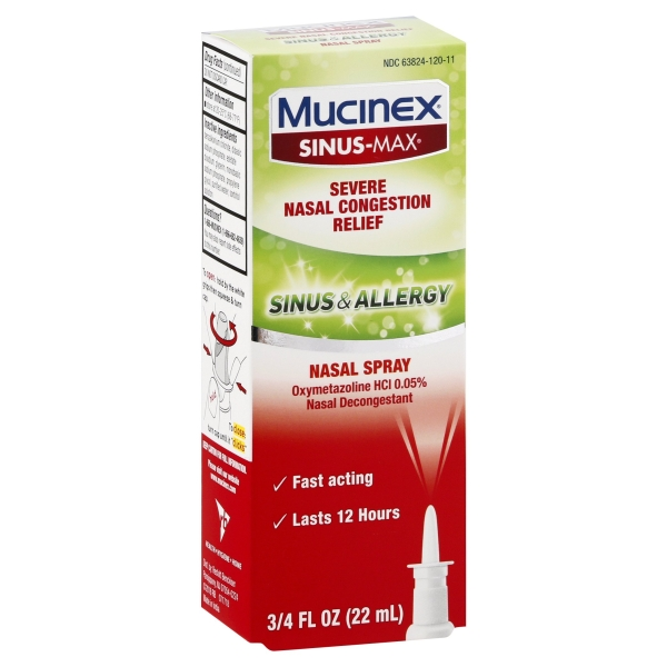 Mucinex Sinus Allergy Fast Acting Nasal Congestion Relief Spray Fast Acting 12 Hour Severe Nasal Congestion Relief 7 Walmart Com