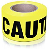 XFasten Caution Tape, Yellow, 3Inch x 1000Foot Fade Resistant and High