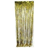 Metallic Gold Foil Fringe Curtain. 3 ft. x 8 ft. Foil(Discontinued by manufacturer)
