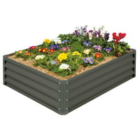 "Stratco 46"" x 35"" x 12"" Metal Raised Garden Bed"