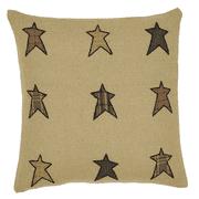 Stratton Applique Star Pillow Cover 16x16