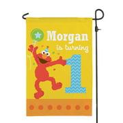 Personalized Sesame Street Elmo Birthday Flag