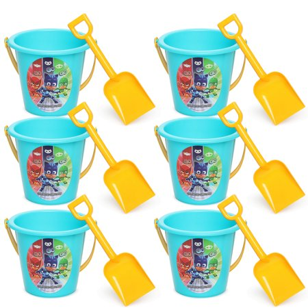 Mask Party Favors (6pc PJ Masks Sand Bucket and Shovel For Birthday party Favor)