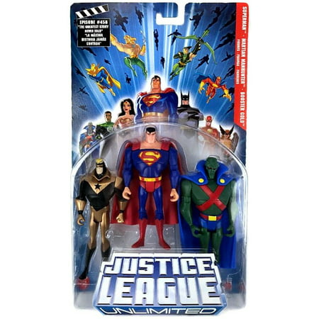 Justice League Series 3 Superman, Martian Manhunter & Booster Gold Action Figure 3-Pack