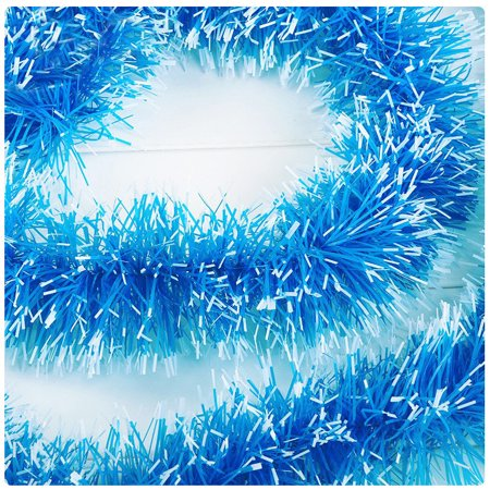 Christmas Party Xmas Tree Ornaments 2m Tinsel Hanging Decorations 5 Colors ()