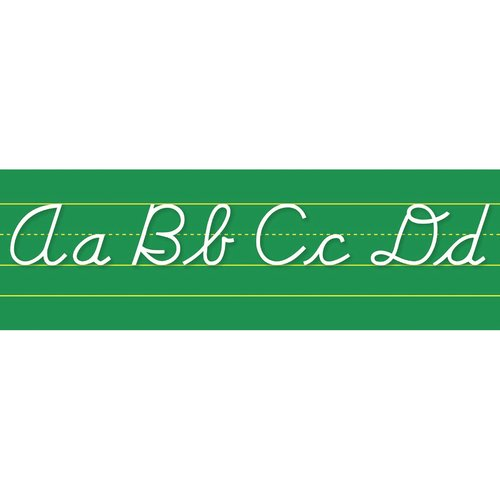 Northstar Teacher Resource Alphabet Lines Contemporary Cursive Bulletin Board Cut Out