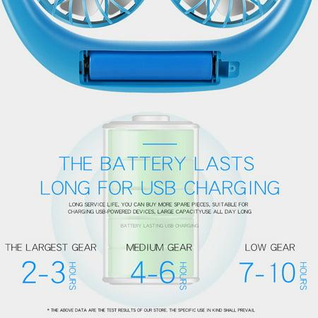 Neckband Fan USB Rechargeable Wearable Aromatherapy Fans Home Use Office Sports Dual-Head Mini Portable Handsfree Fan - image 4 of 7