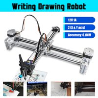 Writting Robot Drawing Robot X Y Axles Extended Plotter Machine A4 Area DIY 12V 1A Power (Without laser module)