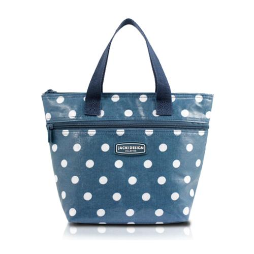 Jacki Design Medium Polka Dot Insulated Lunch Tote Black