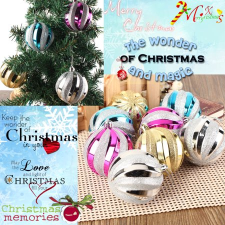 12-Pack 8cm Christmas Tree Hanging Balls Baubles Christmas Tree Ornaments  Decorations for Home ()