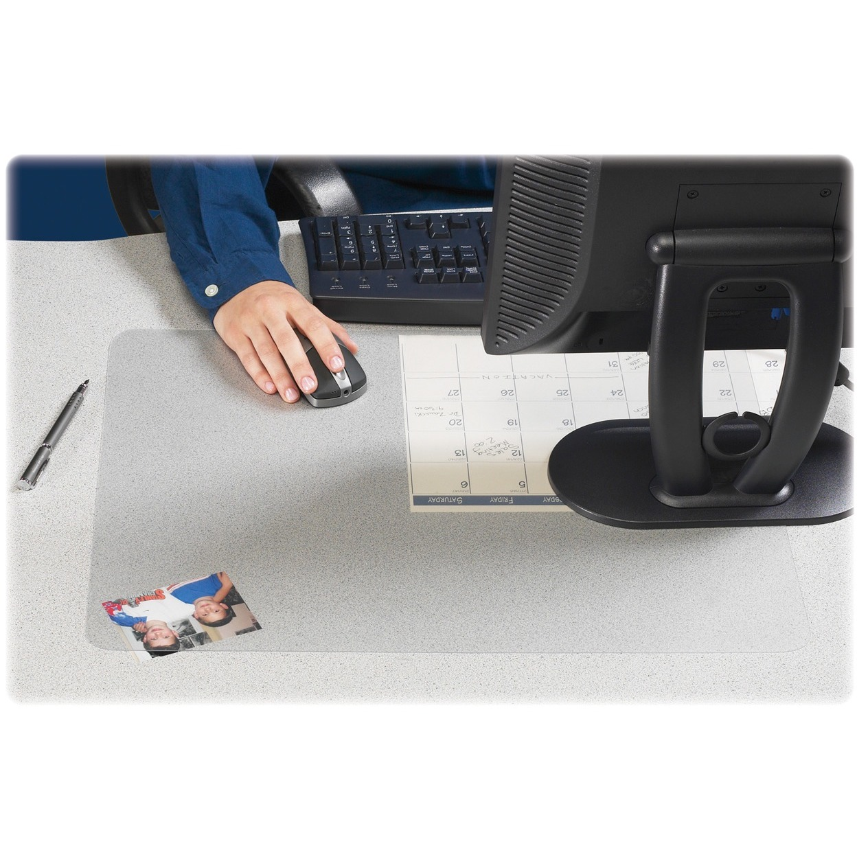 Artistic KrystalView Desk Pad with Microban, 24 x 19, Clear by Artistic Products, LLC
