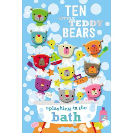 Ten Little Teddy Bears Splashing in the Bath - Halloween Teddy Bear Coloring Pages