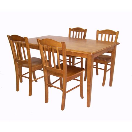 Boraam Shaker Oak 5 Piece Dining Set