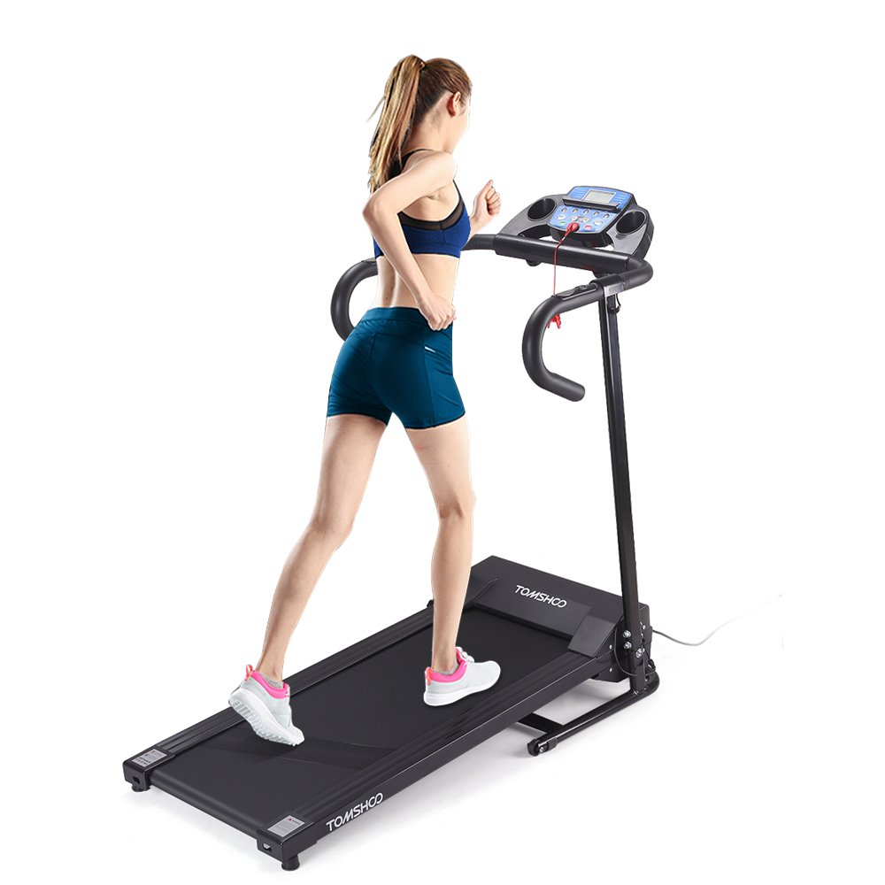 TOMSHOO 1100W Portable Folding Electric Motorized Treadmi...