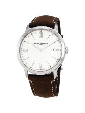 Baume & Mercier Baume et Mercier Classima White Dial Brown Leather Men's Watch 10389