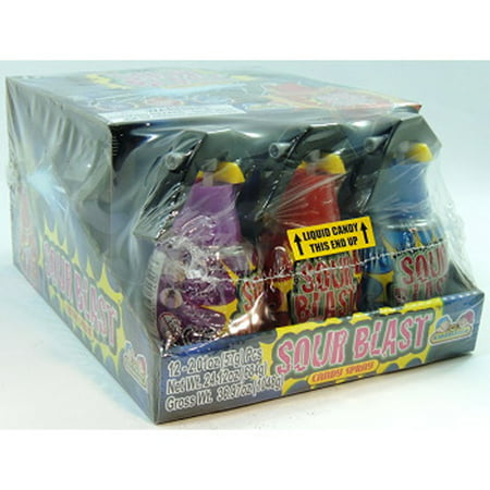 Kidsmania Sour Blast Candy Spray Grenades 12 Count