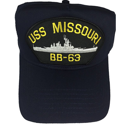 USS MISSOURI BB-63 HAT CAP USN NAVY SHIP IOWA CLASS BATTLESHIP MIGHTY BIG MO Iowa Class Battleship