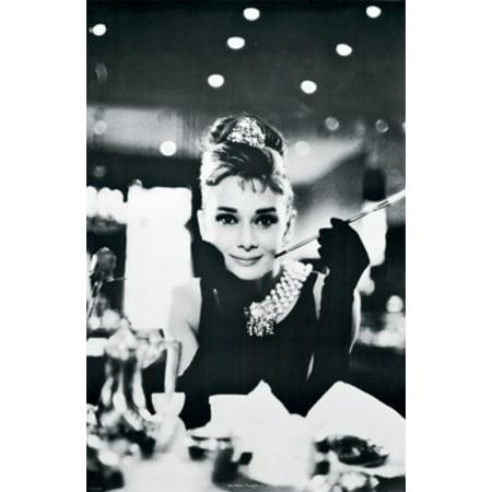 Audrey Hepburn Breakfast At Tiffanys Poster Poster Print (Audrey Hepburn Breakfast)