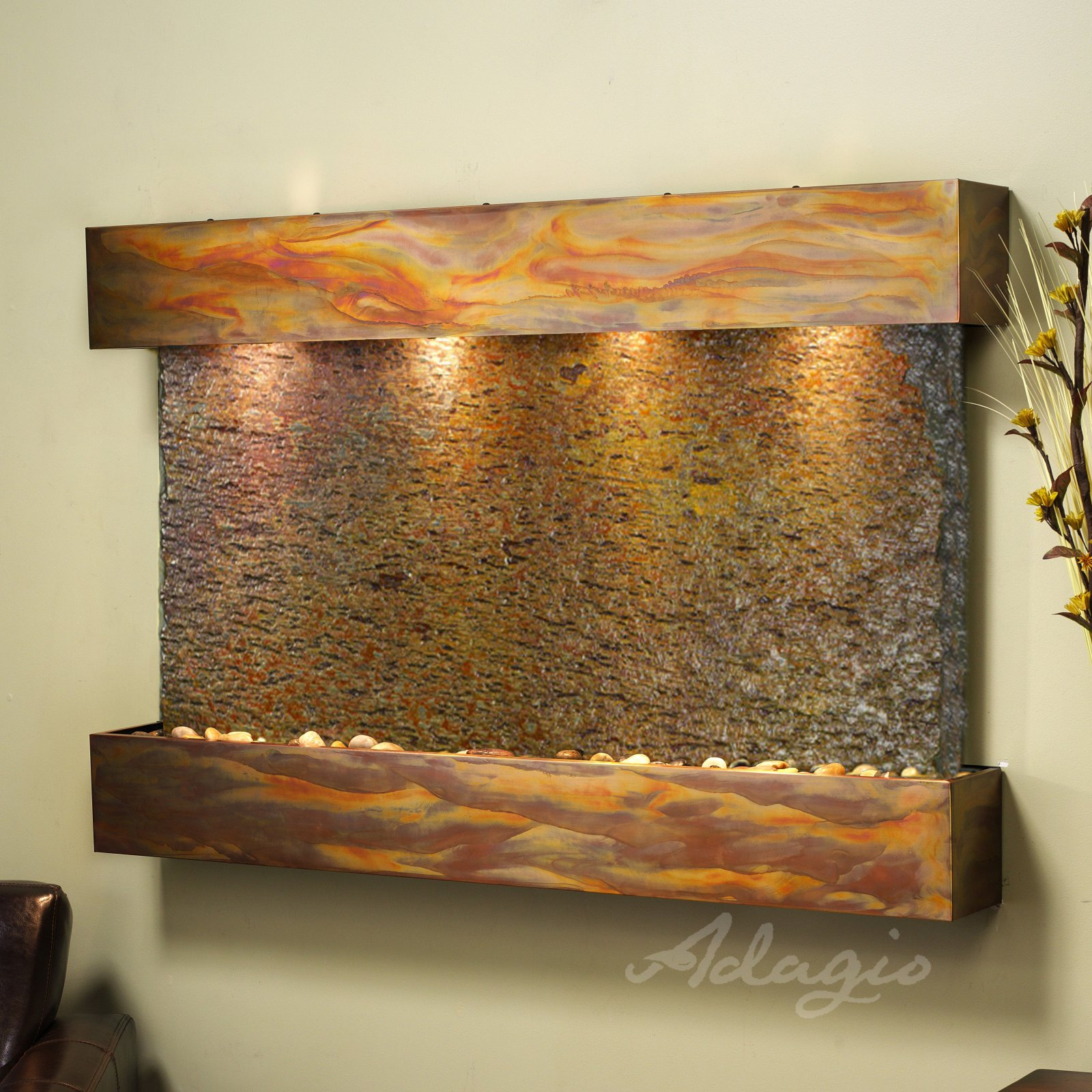 ADAGIO SSR1504 Sunrise Springs - Rajah Natural Slate Wall Fountain