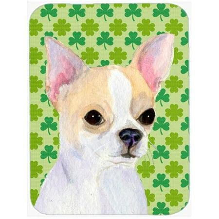 Chihuahua St. Patricks Day Shamrock Portrait Glass Cutting Board, Large](St Patricks Day Glasses)