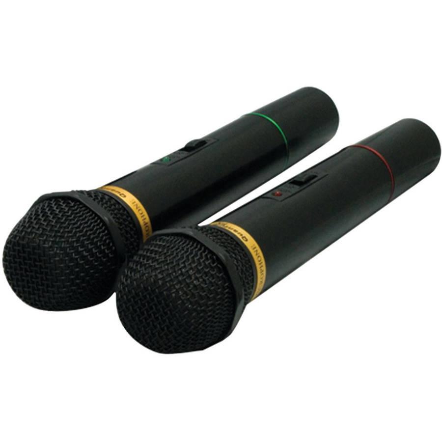 QFX M-336 Wireless Dynamic Microphone System, 2pk