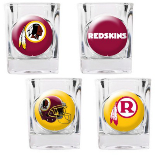 Great American Products Washington Redskins Shot Glass Set 4pc Collectors Shot Glass Set