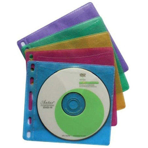 Inland U-Store Color CD/DVD Sleeves, 100 Sets