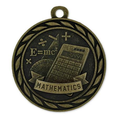 Gold Mathematics Single and Bulk School Medals (Bulk Medals)