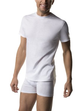 Hanes Men's Comfortsoft White Tagless T-Shirts, 6 Pack