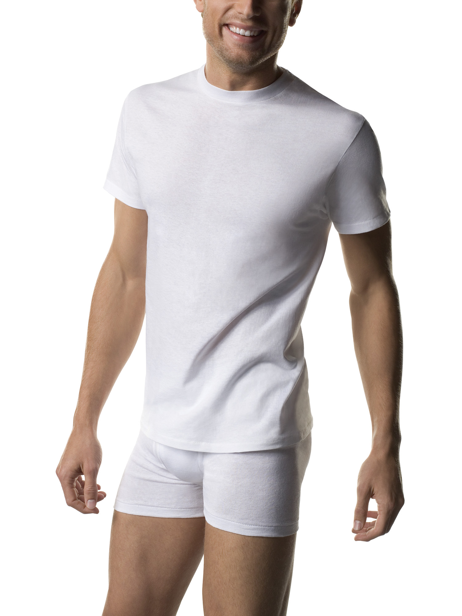 Men's 6 Pack Crewneck Undershirt