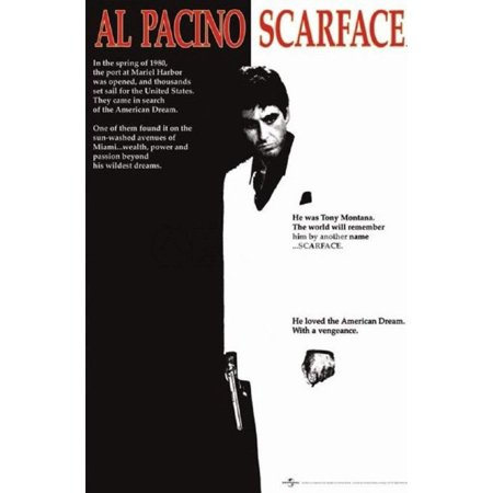 Scarface Movie (Al Pacino, Black and White) Poster Print - 24x36 Collections Poster Print, 24x36 Poster Print, 24x36, Poster Title: Scarface Movie (Al Pacino,.., By Generic,USA](Halloween Black Light Posters)