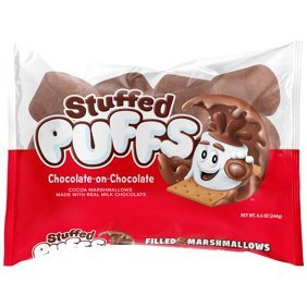 8.6 oz Stuffed Puffs  Chocolate-on-Chocolate Cocoa Marshmallow Filled with Real Milk Chocolate